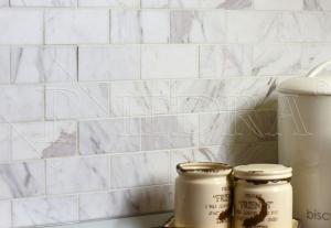Mramorová mozaika Volakas 5 x 10 cm