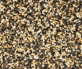Kamenný koberec PIEDRA - Mramor Černý + Žlutý